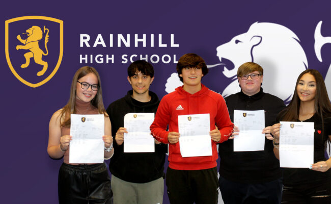 RAINHILL HIGH SCHOOL CELEBRATE ANOTHER YEAR OF FANTASTIC RESULTS.